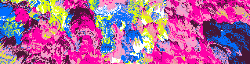 Glitch Art, brightly colored pattern dither